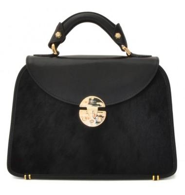 Pratesi Veneziano Small Cavallino Woman Bag in real leather - Cavallino Black