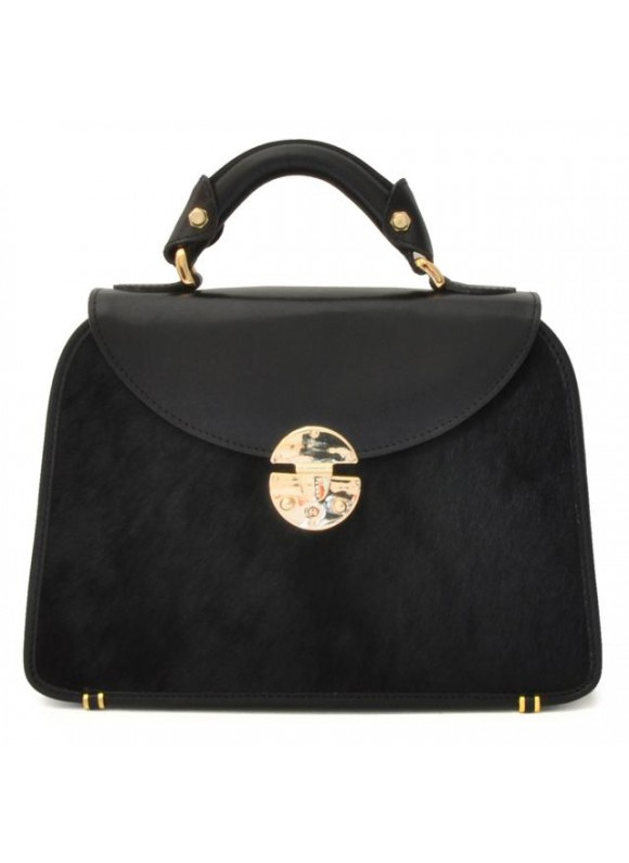 Pratesi Veneziano Small Cavallino Woman Bag in real leather - Cavallino Black