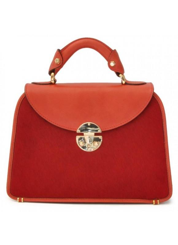 Pratesi Veneziano Small Cavallino Woman Bag in real leather - Cavallino Cherry