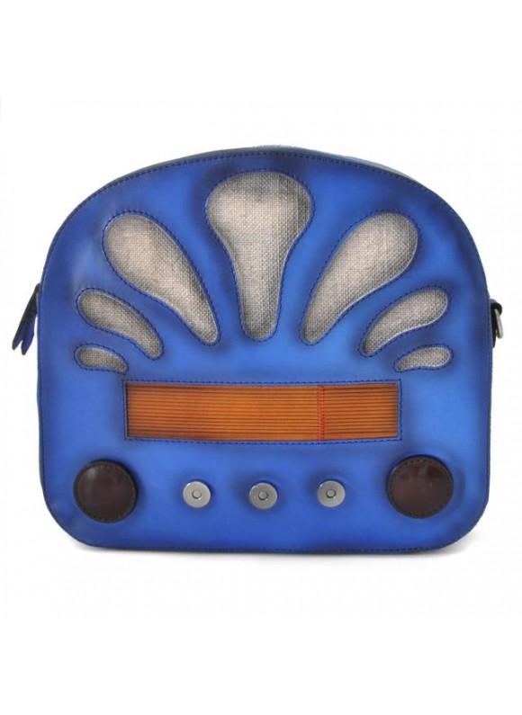 Pratesi Radio Days Santa Croce Shoulder Bag in real leather - Santa Croce Blue
