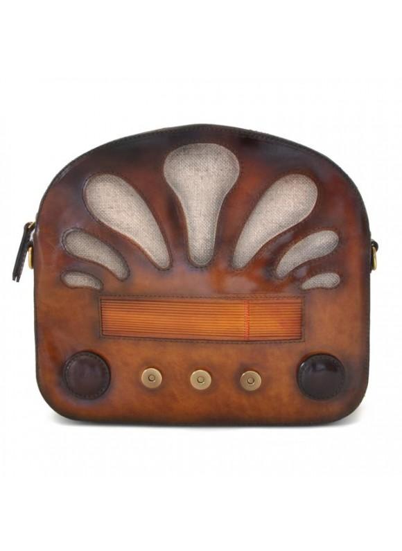Pratesi Radio Days Santa Croce Shoulder Bag in real leather - Santa Croce Brown