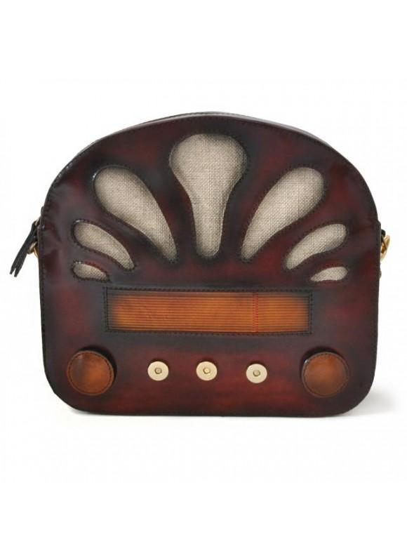 Pratesi Radio Days Santa Croce Shoulder Bag in real leather - Santa Croce Chianti