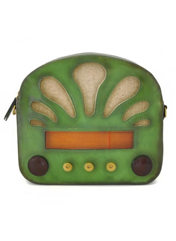 Pratesi Radio Days Santa Croce Shoulder Bag in real leather - Santa Croce Green
