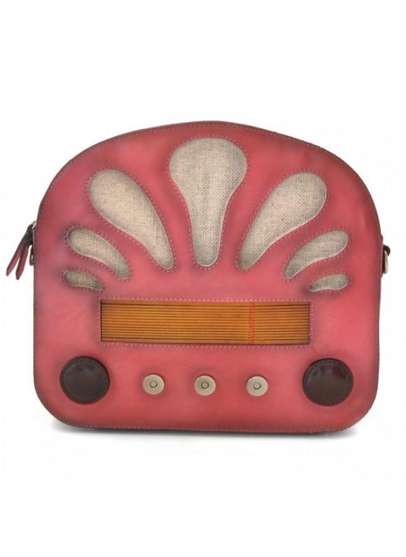 Pratesi Radio Days Santa Croce Shoulder Bag in real leather - Santa Croce Pink