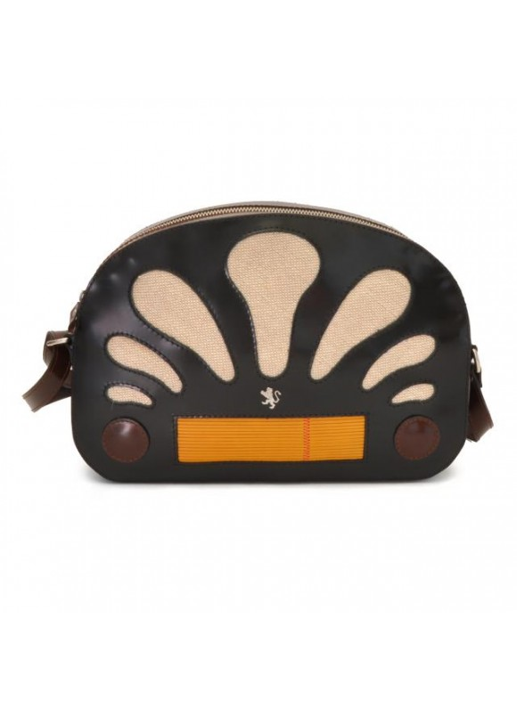 Pratesi Radio Days Radica Cross-Body Bag in cow leather - Radica Black