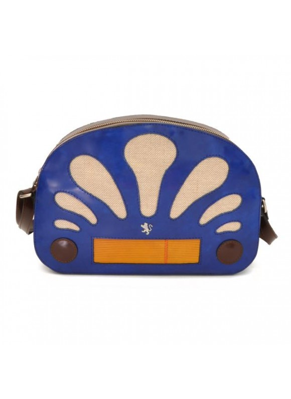 Pratesi Radio Days Radica Cross-Body Bag in cow leather - Radica Electric Blue