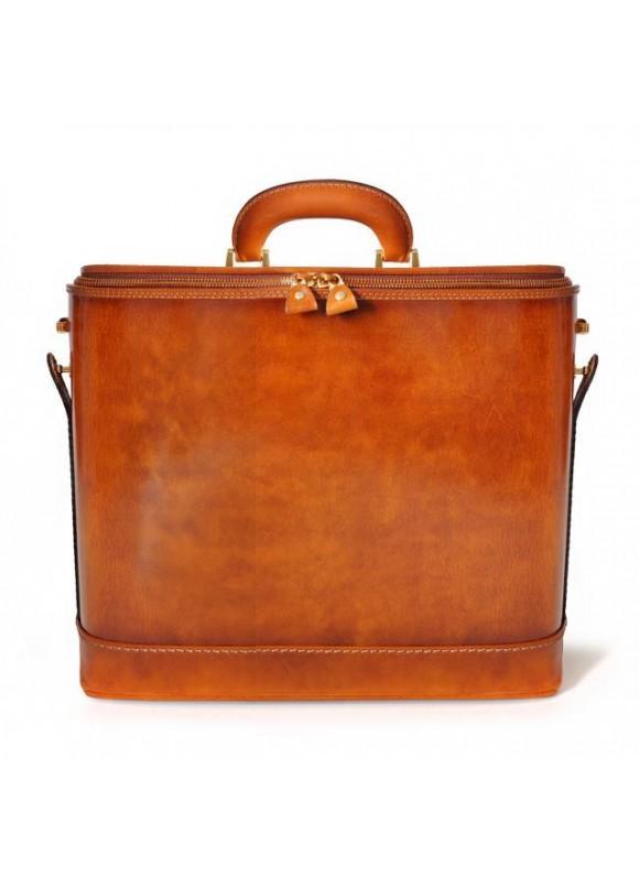 Pratesi Raffaello Santa Croce PC Case 15 pollici in real leather
