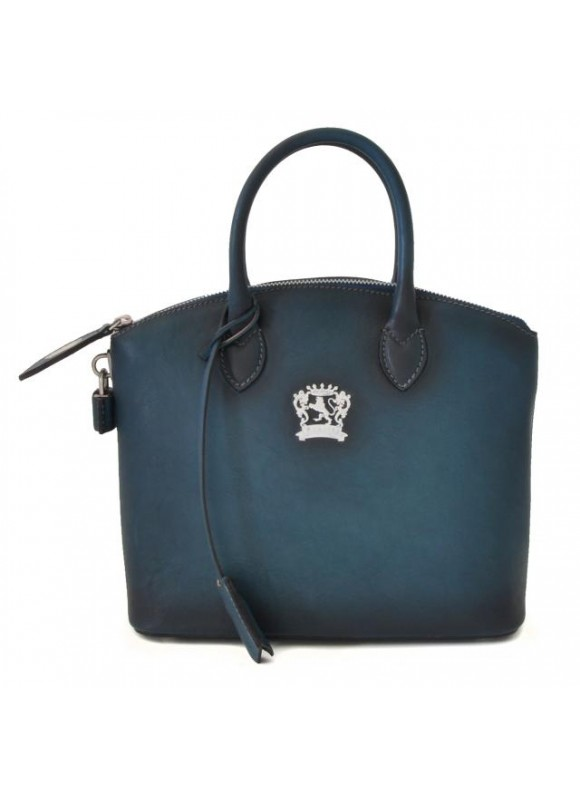 Pratesi Versilia Small Bruce Handbag in cow leather - Bruce Blue