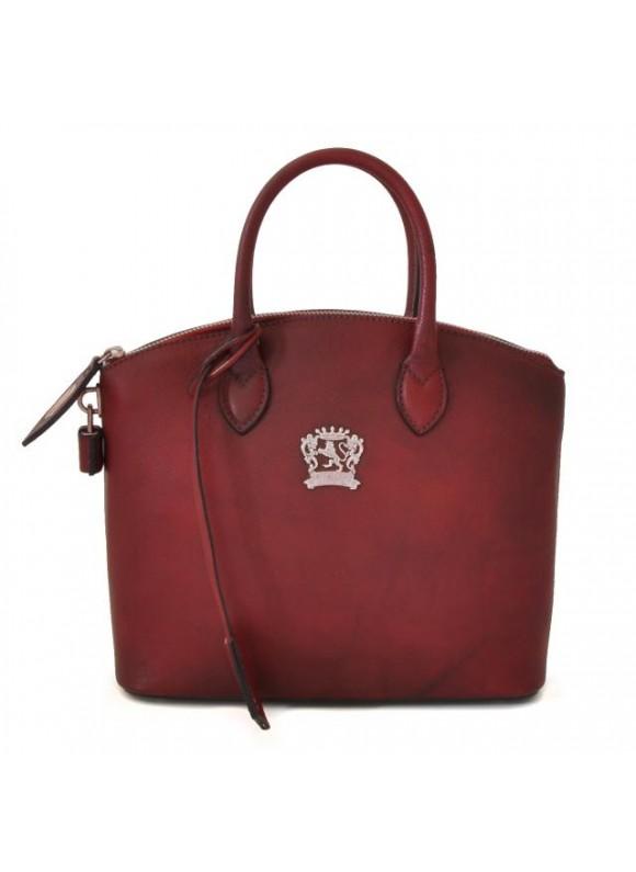 Pratesi Versilia Small Bruce Handbag in cow leather - Bruce chianti