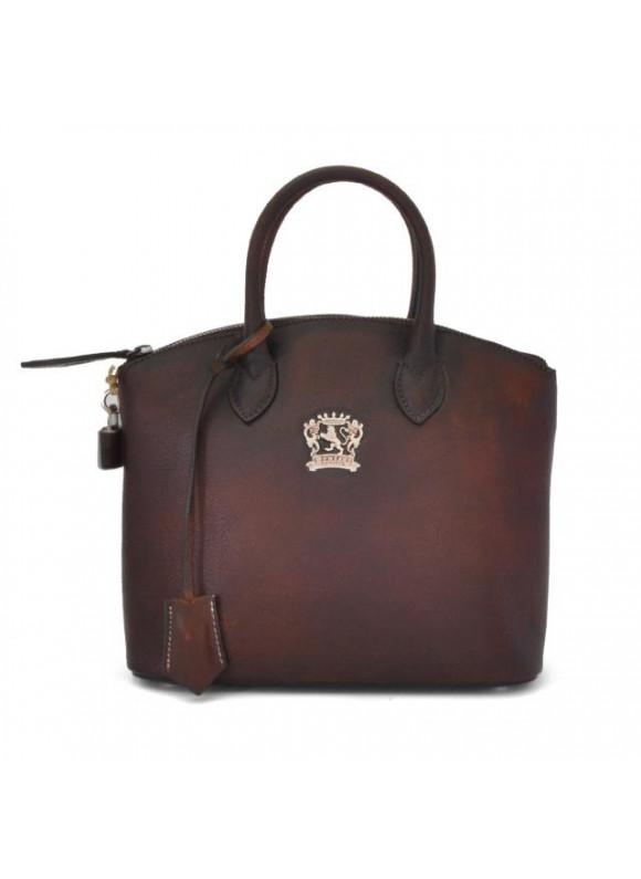 Pratesi Versilia Small Bruce Handbag in cow leather - Bruce Coffee