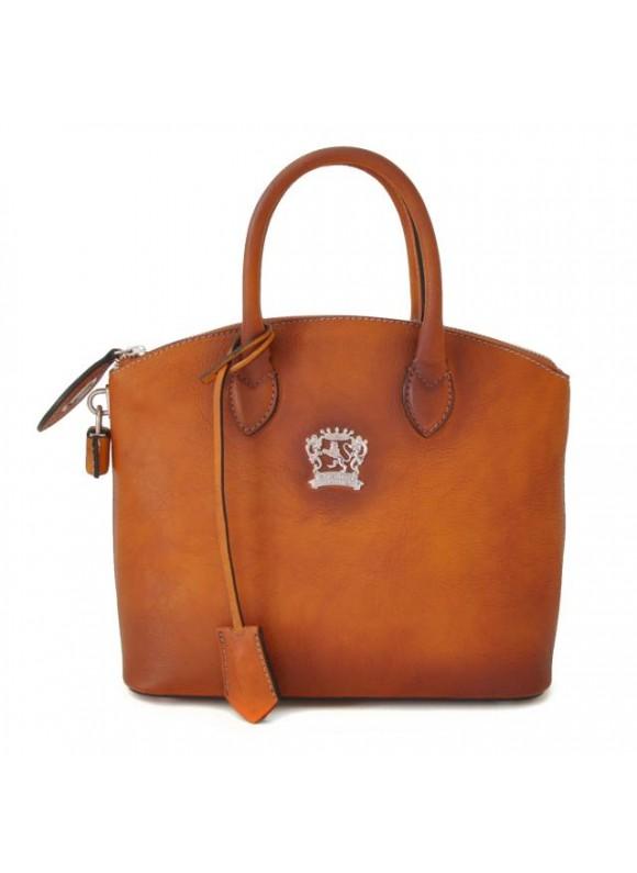 Pratesi Versilia Small Bruce Handbag in cow leather - Bruce Cognac