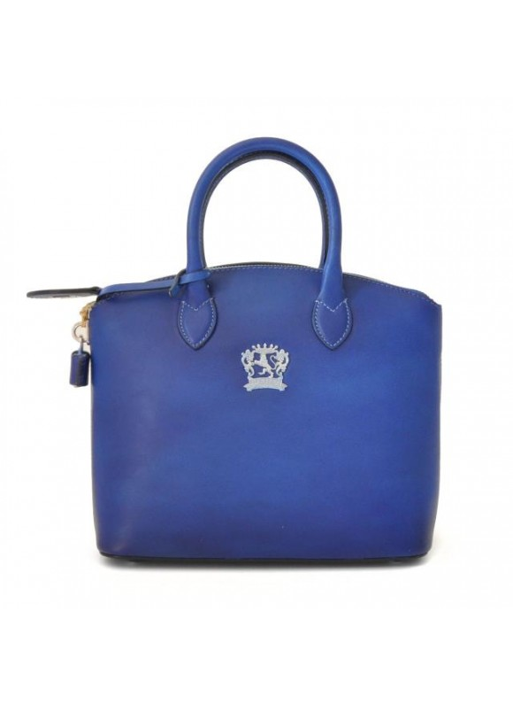 Pratesi Versilia Small Bruce Handbag in cow leather - Bruce Electric Blue