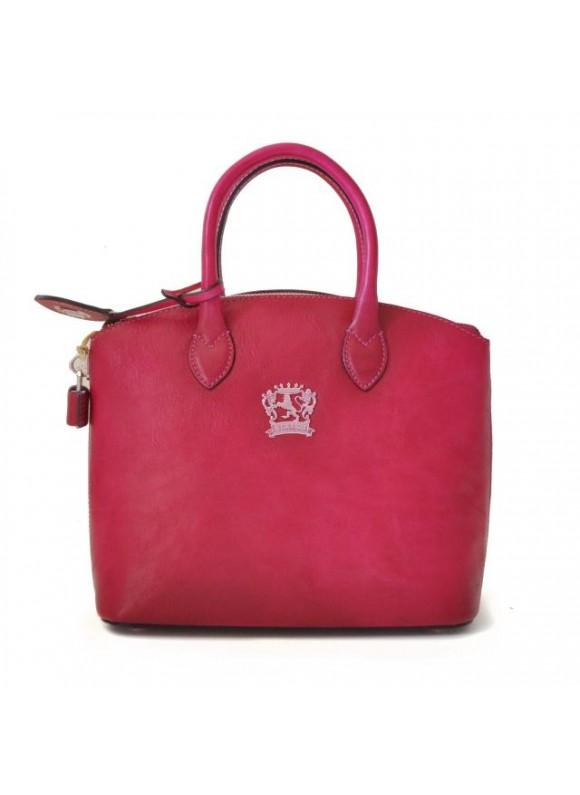Pratesi Versilia Small Bruce Handbag in cow leather - Bruce Fuchsia