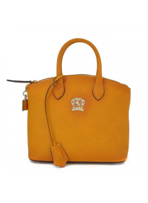 Pratesi Versilia Small Bruce Handbag in cow leather - Bruce Mustard