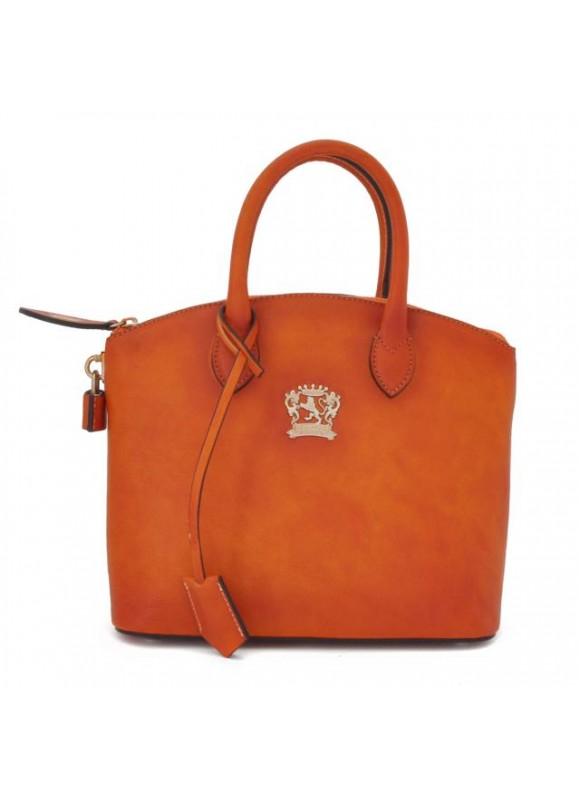Pratesi Versilia Small Bruce Handbag in cow leather - Bruce Orange