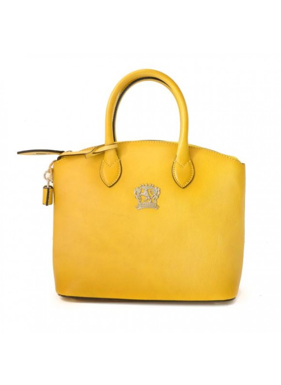 Pratesi Versilia Small Bruce Handbag in cow leather - Bruce Yellow