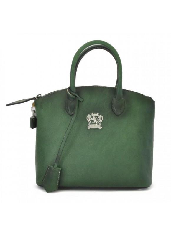 Pratesi Versilia Small Bruce Handbag in cow leather - Bruce Emerald