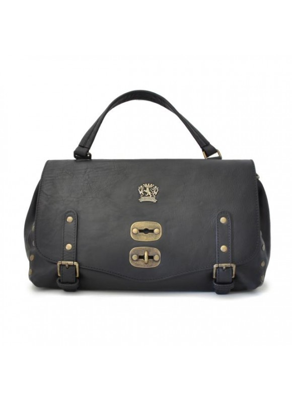 'Pratesi Woman Bag Castell''Azzara in cow leather - Bruce Black'