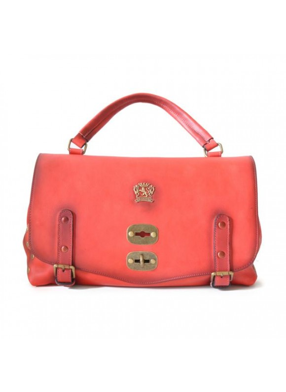 'Pratesi Woman Bag Castell''Azzara in cow leather - Bruce Cherry'