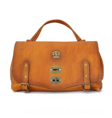 'Pratesi Woman Bag Castell''Azzara in cow leather - Bruce Cognac'