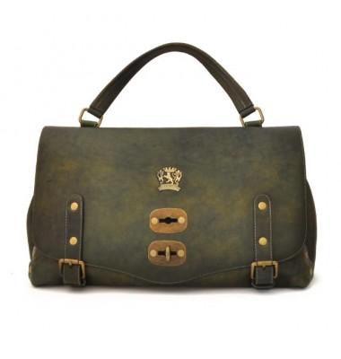 'Pratesi Woman Bag Castell''Azzara in cow leather - Bruce Dark Green'
