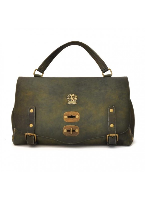 'Pratesi Woman Bag Castell''Azzara in cow leather - Bruce Dark Green'