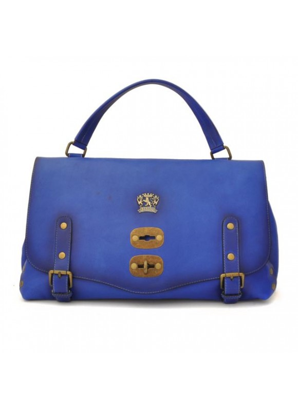 'Pratesi Woman Bag Castell''Azzara in cow leather - Bruce Electric Blue'