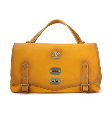 'Pratesi Woman Bag Castell''Azzara in cow leather - Radica Mustard'