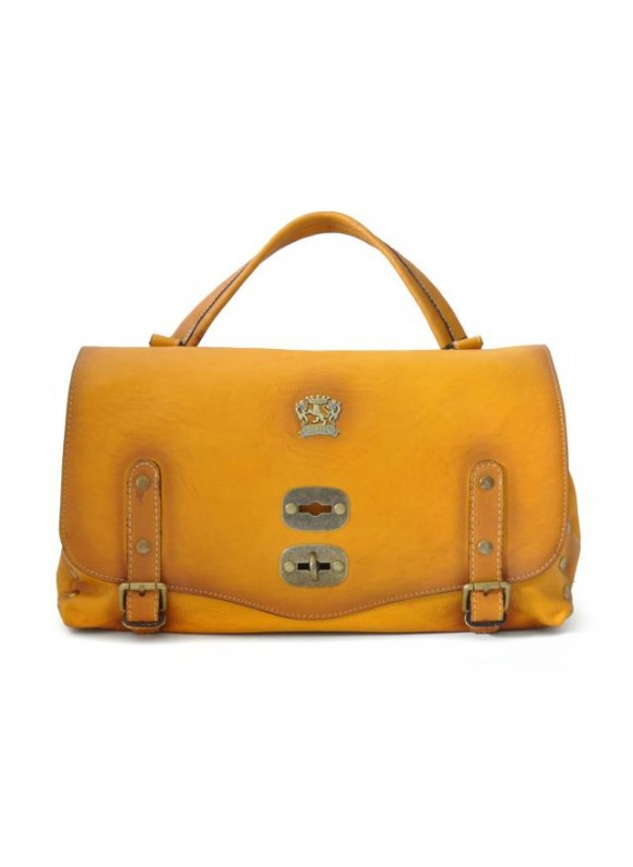 'Pratesi Woman Bag Castell''Azzara in cow leather - Radica Mustard'