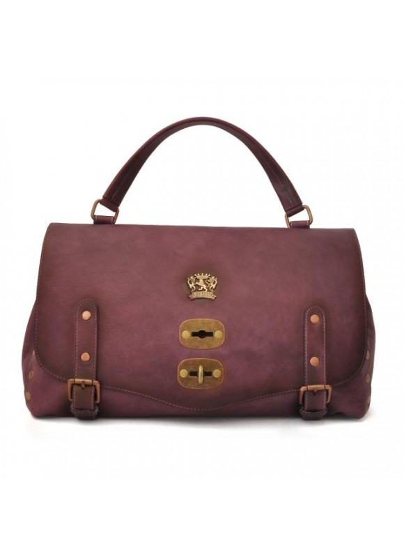 'Pratesi Woman Bag Castell''Azzara in cow leather - Bruce Violet'