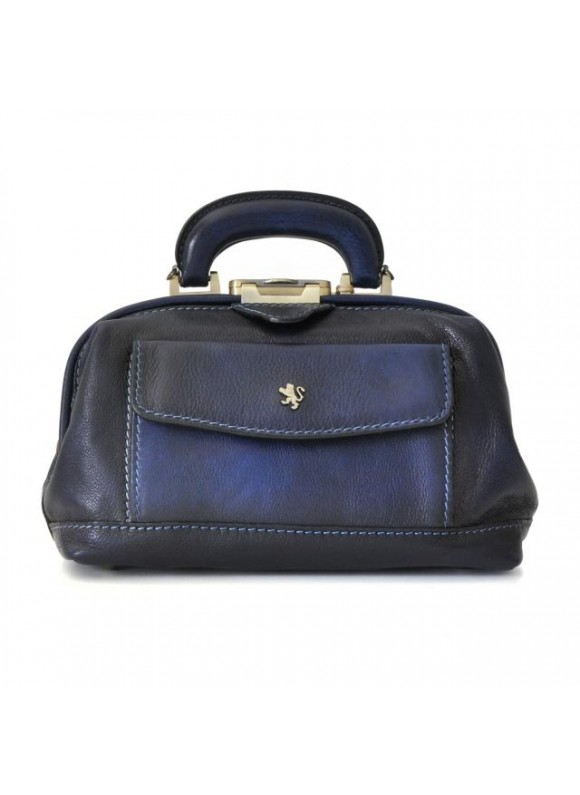 Pratesi Doctor lady bag 562/P in cow leather - Bruce Blue