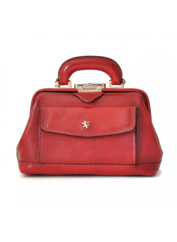 Pratesi Doctor lady bag in cow leather - Bruce Cherry
