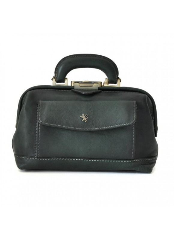 Pratesi Doctor lady bag 562/P in cow leather - Bruce Dark Green
