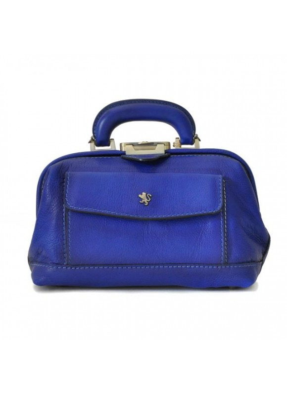 Pratesi Doctor lady bag 562/P in cow leather - Bruce Electric Blue