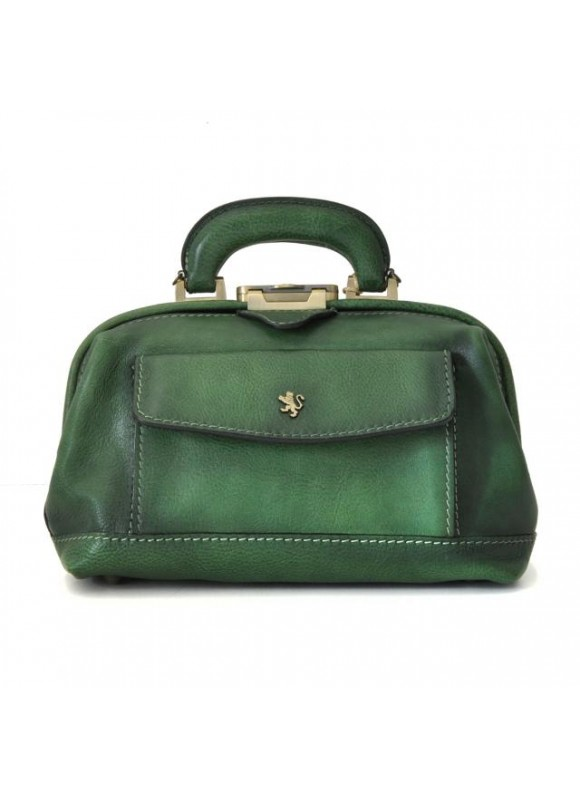 Pratesi Doctor lady bag 562/P in cow leather - Bruce Emerald