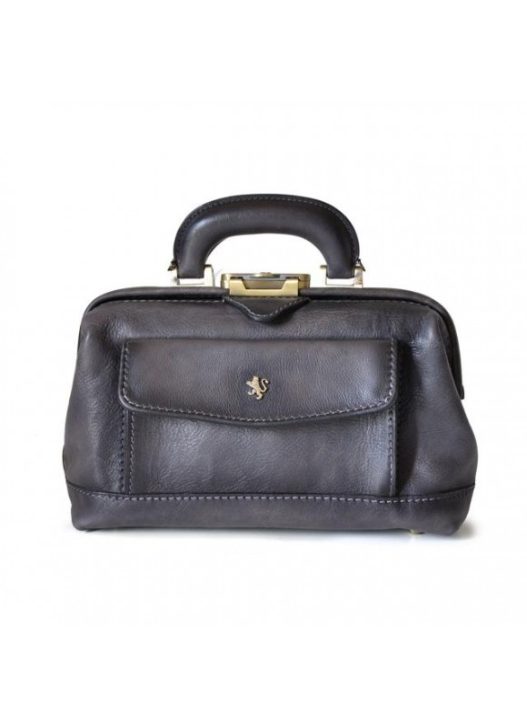 Pratesi Doctor lady bag 562/P in cow leather - Bruce Grey