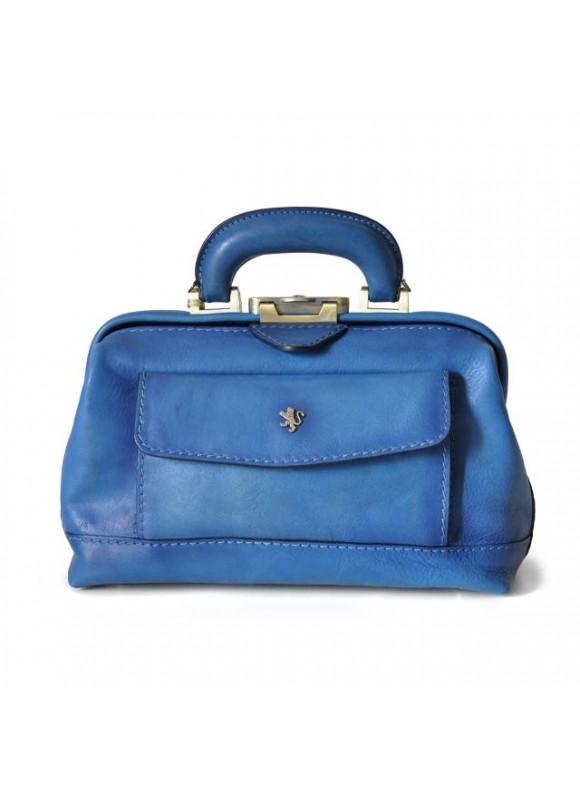 Pratesi Doctor lady bag 562/P in cow leather - Bruce Light Blue