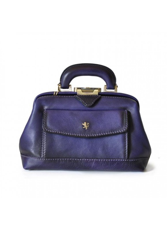 Pratesi Doctor lady bag 562/P in cow leather - Bruce Violet