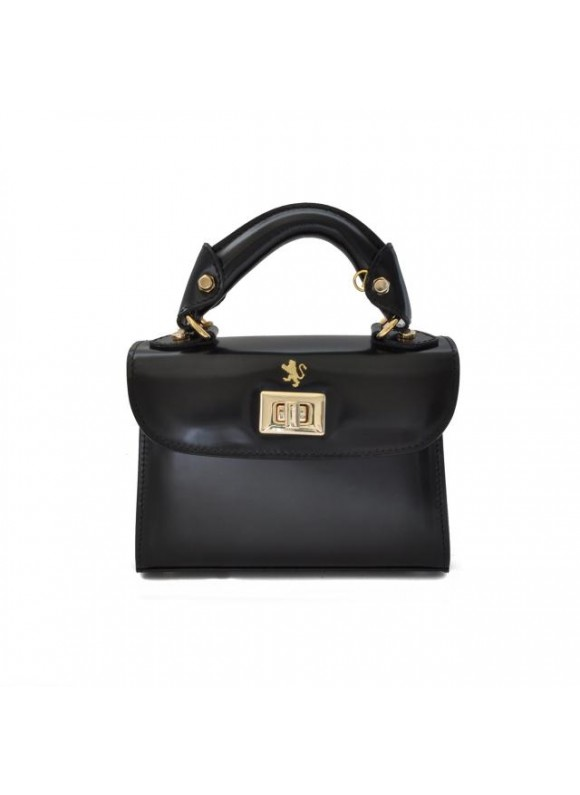 Pratesi Lucignano Small Handbag in cow leather - Radica Black