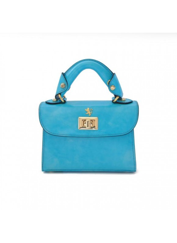 Pratesi Lucignano Small Handbag in cow leather - Sky Blue