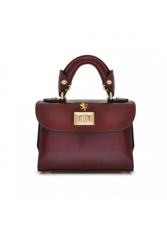 Pratesi Lucignano Small Handbag in cow leather - Radica Chianti