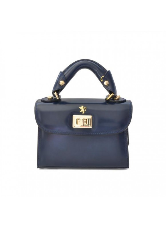 Pratesi Lucignano Small Handbag in cow leather - Radica Blue