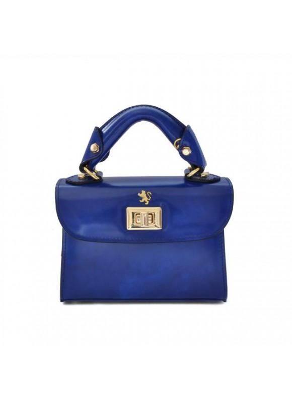 Pratesi Lucignano Small Handbag in cow leather - Radica Electric Blue