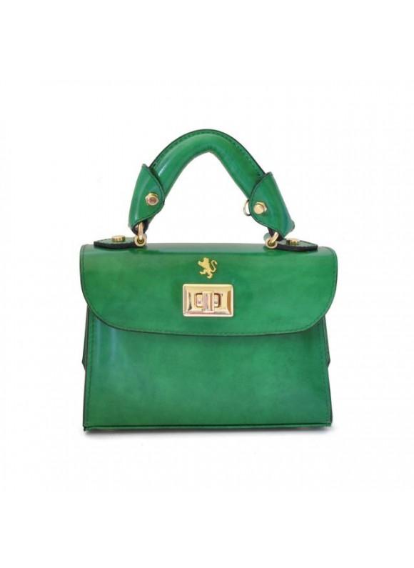 Pratesi Lucignano Small Handbag in cow leather - Radica Emerald
