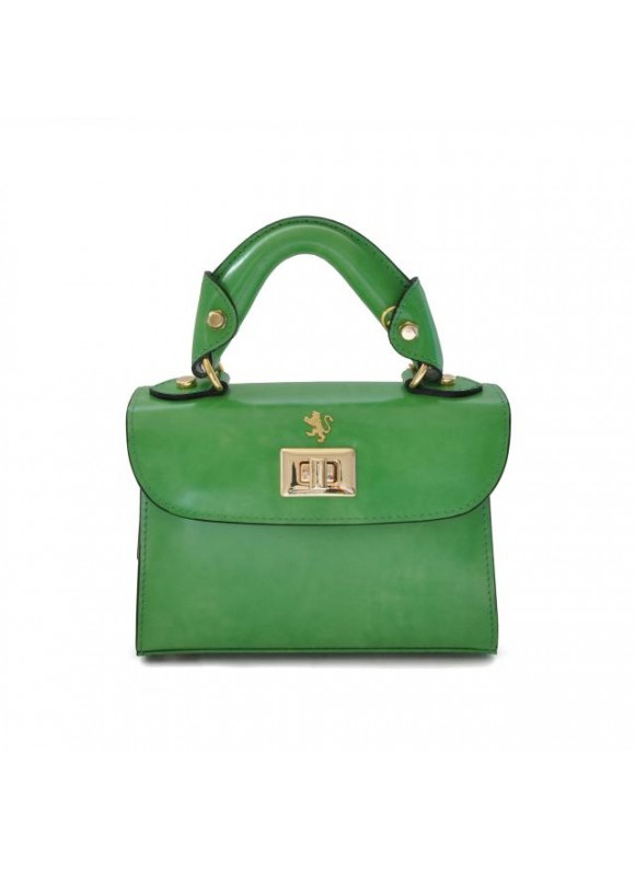Pratesi Lucignano Small Handbag in cow leather - Radica Green