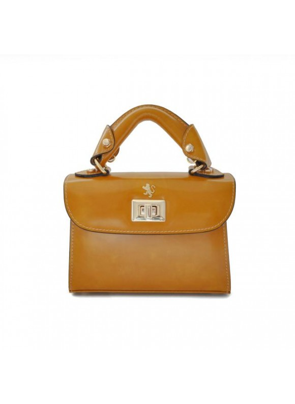 Pratesi Lucignano Small Handbag in cow leather - Radica Mustard