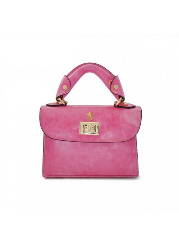 Pratesi Lucignano Small Handbag in cow leather - Radica Pink