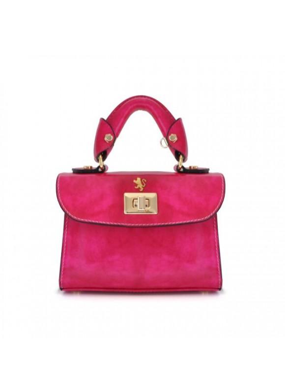 Pratesi Lucignano Small Handbag in cow leather - Radica Fuchsia