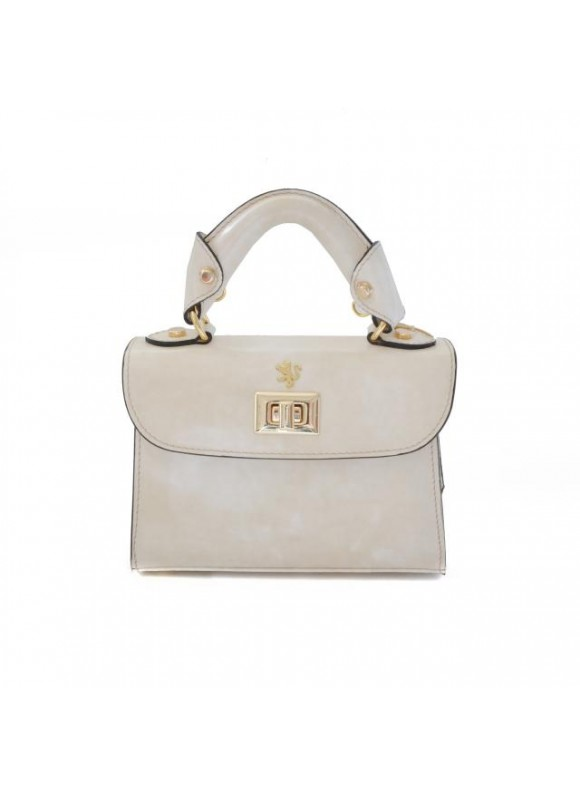 Pratesi Lucignano Small Handbag in cow leather - Radica Panna