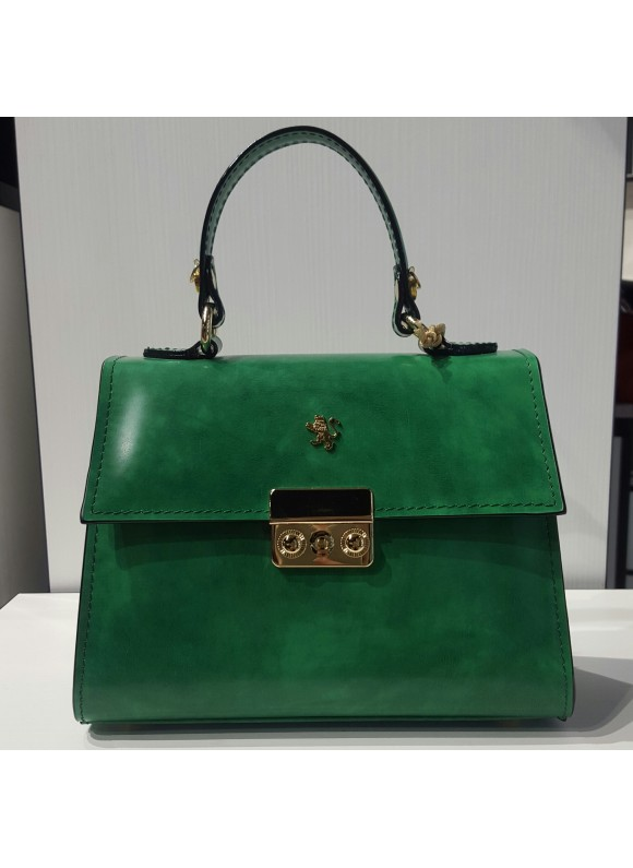 Pratesi Artemisia Lady Bag in cow leather - Radica Emerald